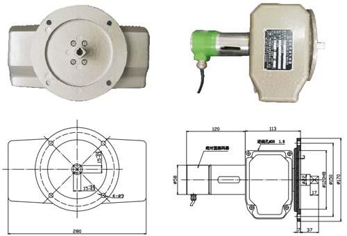 法兰方轴连接带编码器(八触点)